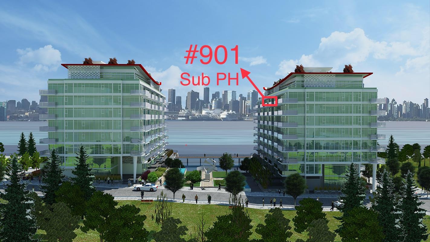 Sub PH #901-175 Victory Ship Way, North Vancouver, BC - Lower Lonsdale Apartment/Condo for sale, 1 Bedroom (R2147684) #1