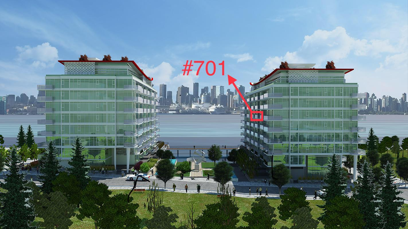 #701 - 175 Victory Ship Way, North Vancouver, BC - Lower Lonsdale Apartment/Condo for sale, 1 Bedroom (R2270148) #1