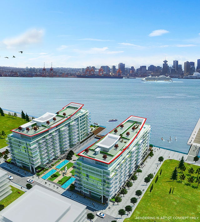 SubPH 913 - 175 Victory Ship Way (Cascade) - Lower Lonsdale Apartment/Condo for sale, 1 Bedroom (R2239939) #1